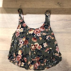 American Eagle Soft and Sexy Floral Tank